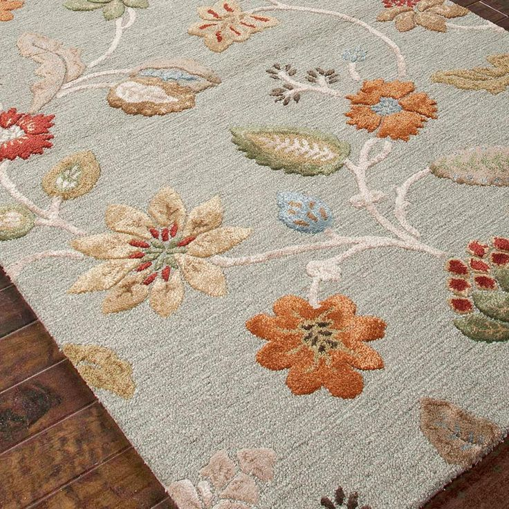 Superior Field Of Flowers Hand Tufted Rug