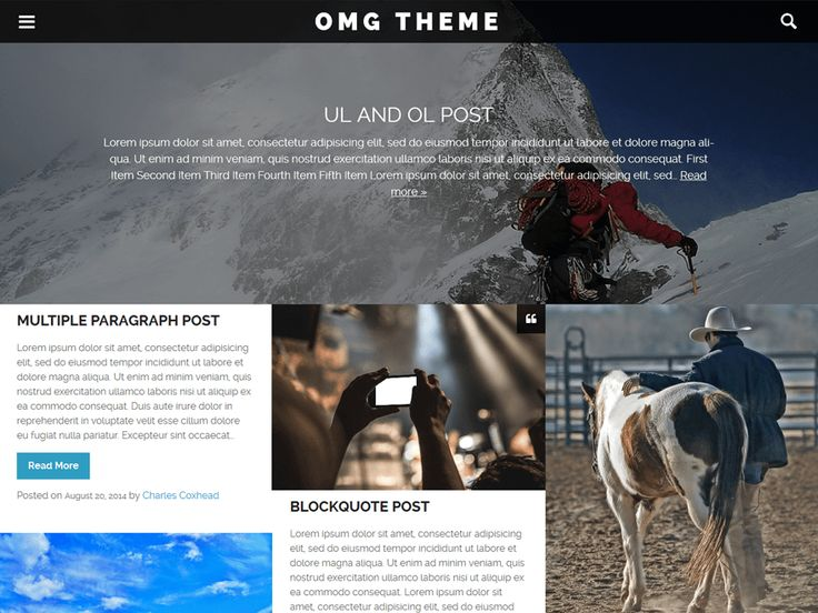 OMG — Free WordPress Themes