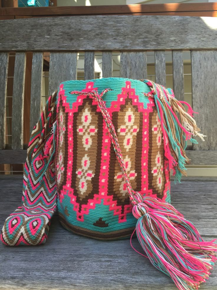 Wayuu Mochila Colorful Columns
