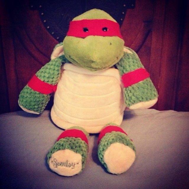 Dress up Scentsy Buddy Twiggy the Turtle as your kid's favorite Teenage Mutant Ninja Turtle!