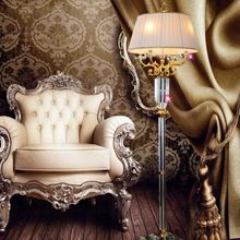 US $858.00 large Reading crystal floor light with fabric lampshade luxury Big Restaurant floor lamp living room stand lamp work study light. Aliexpress product