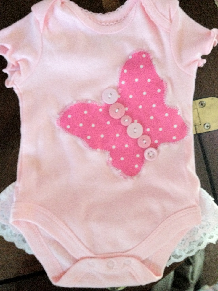 Butterfly onesie that i made for a friend's little girl :)