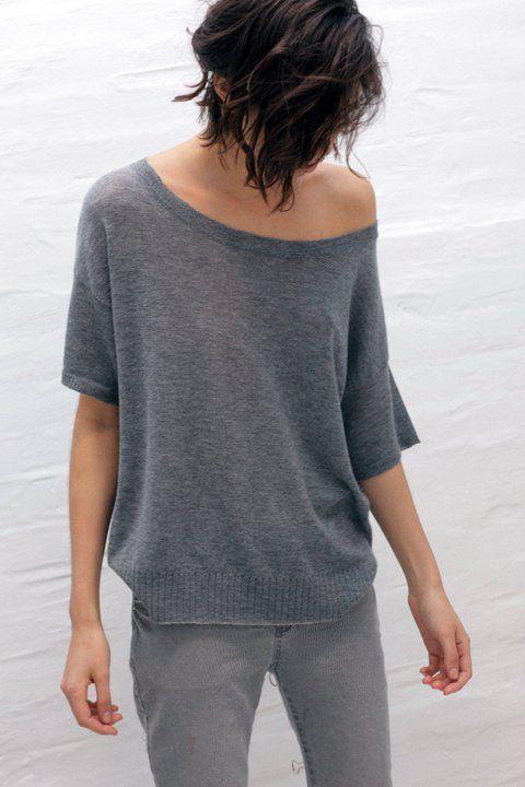 sweater fino gris