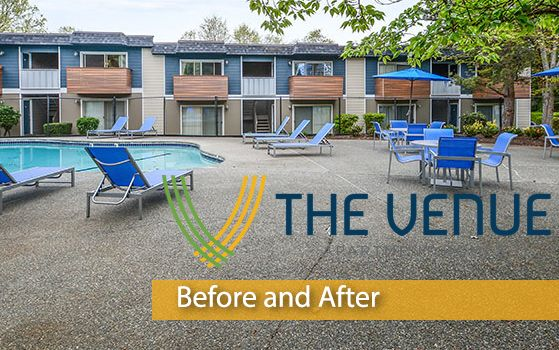 Introducing another #CommunityRedefined project, The Venue Apartment Homes; a rebranded #apartment community located in #Renton, WA. Trinity Property Consultants together with Redwood Construction have completed 84 interior renovations and many exterior improvements. Take a look at the before and after pictures below to view the #transformation! #BeforeAfterTransformation