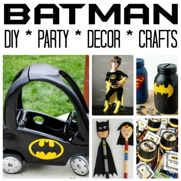 Must see easy Batman DIY Ideas - whether you are hosting a Batman Party or need Batman Room Decor DIYs, this extensive selection of crafts is must see!