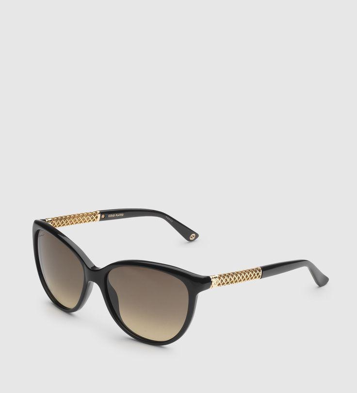 Gafas de sol diamantissima de ojo de gato de Gucci