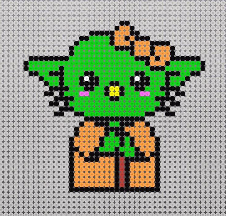 hello kitty con forma de yoda kawaii.