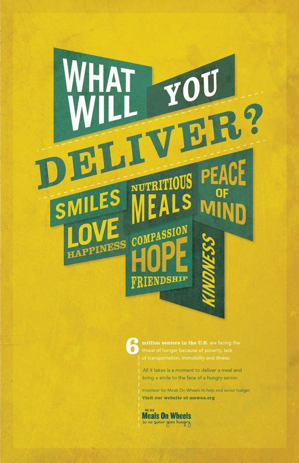Meals On Wheels Advocacy Posters by Anna  DeFazio, via Behance