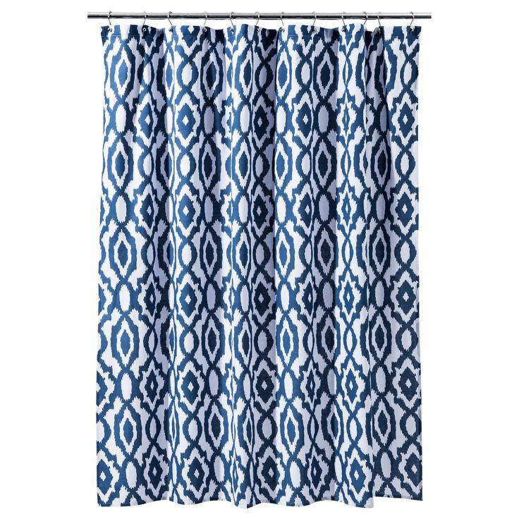 Threshold� Ikat Shower Curtain - Blue