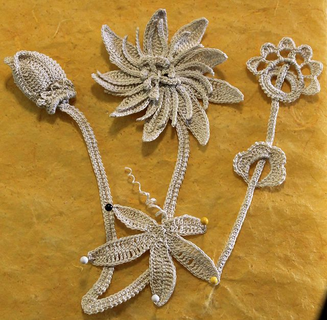 Ravelry: Passion Flower - Irish Crochet Motif pattern by Ann Reillet