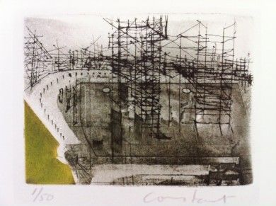 Constant Nieuwenhuys, towers (New Babylon), 1970
