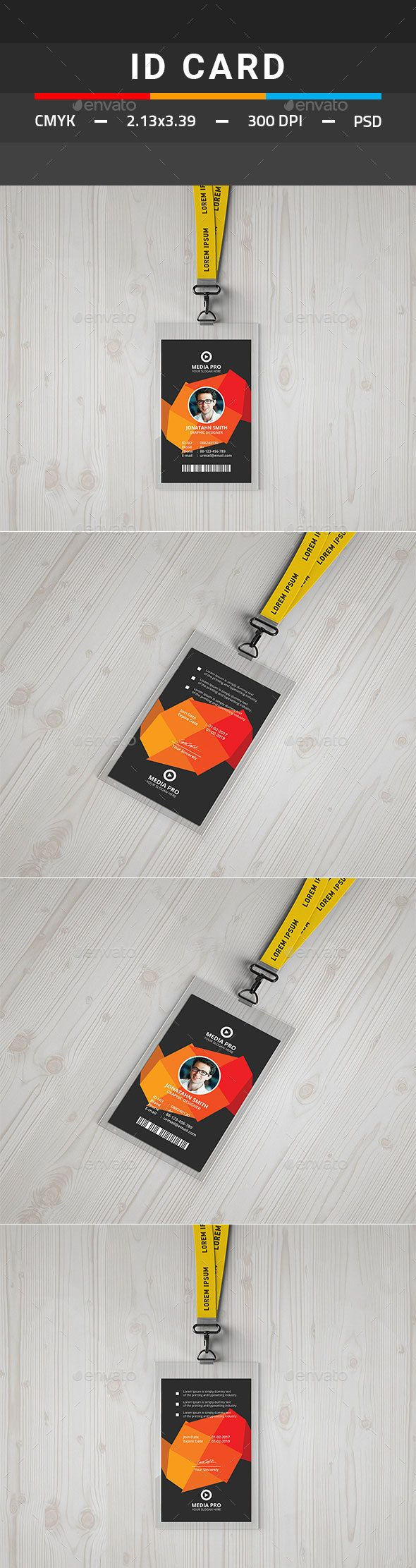 79 best ID Card Design Templates images on Pinterest | Print ...