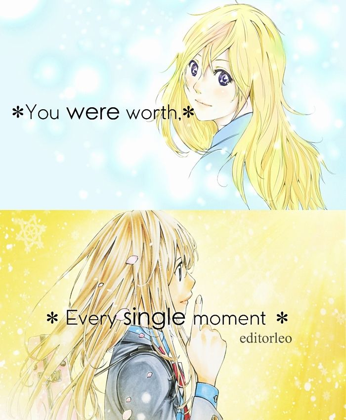 Anime Your Lie In April Anime Quotes Post I Relate To