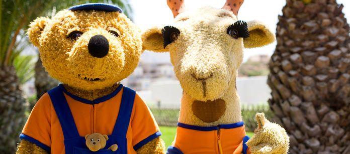 Den snälla giraffen Lollo och hennes kramiga björnkompis Bernie