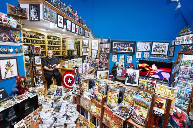 Bob Bretall's Guinness Book of Record winning collection of comic book memorabilia