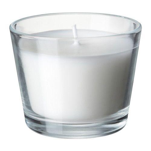 Kerze für Menükarte aus Transparentpapier oder Namenskarte