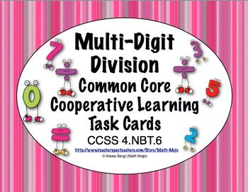 79 best math task cards images on pinterest math task cards common core math task cards multi digit division ccss 4nbt6 fandeluxe Gallery