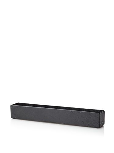 Design Ideas Rockledge Slate Planter, Black by Design Ideas. $33.84. Our Rockledge Slate Planter is caulked at the seams for a watertight seal and backed with felt pads to protect your tabletop.. Plant flowers, bulbs or your own miniature lawn in the Planter for a modern yet natural accent.. Design Ideas Rockledge Slate Planter-Black. Save 15% Off!