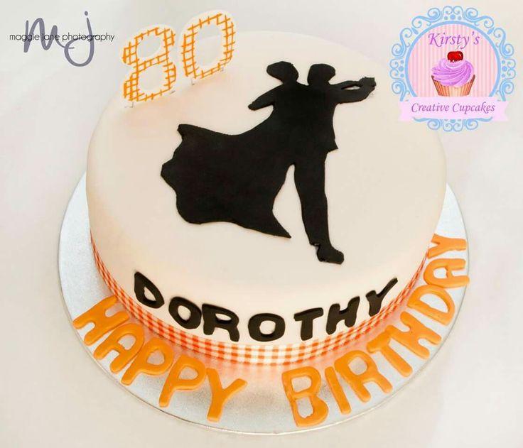 Dancing 80th cake