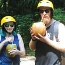 Enjoy free fresh young coconut on Bali cycling tour #balicycling #balirafting #baliraftingandbalicycling #baliactivities #balitour