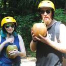 Enjoy free fresh young coconut on Bali cycling tour #balicycling #balirafting #baliraftingandbalicycling #baliactivities #balitour