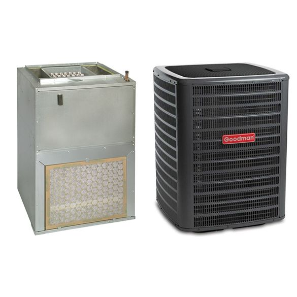 2 Ton Goodman Gsx140241 14 Seer Wall Mounted Air Handler Eem Motor With 3 Kw Heater Central Air Cond In 2020 Central Air Conditioners Heating And Cooling Air Handler