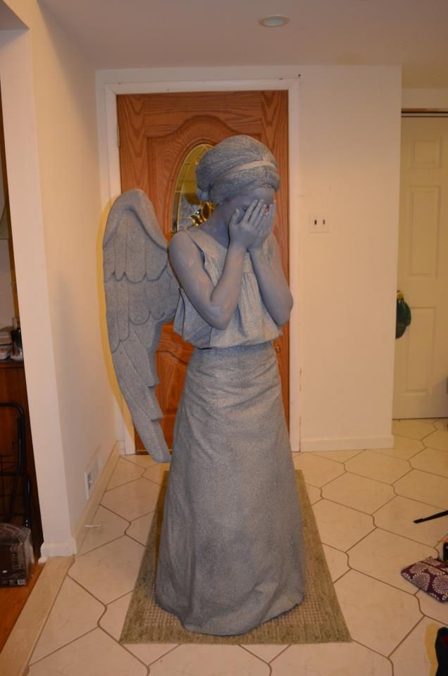 Weeping Angel Costume by ~BroadwayK14 on deviantART Wonder how many people would freak out and stare at me all night...