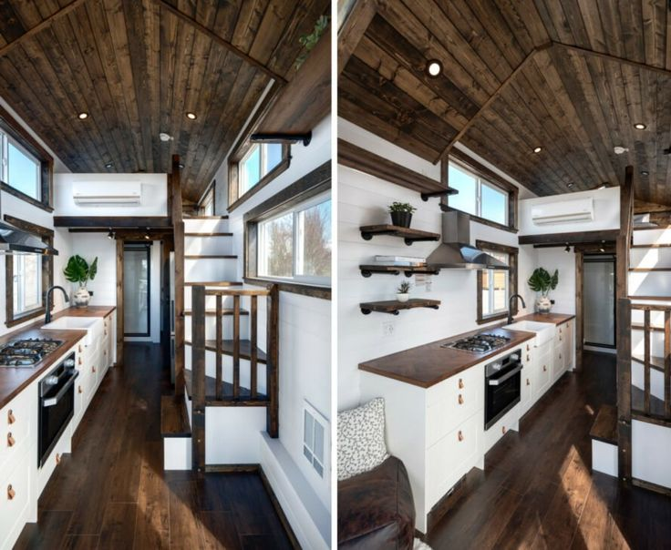 A Tiny Home On Wheels With Brilliant Interiors And Two