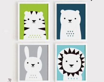 Items op Etsy die op Afdrukbare kwekerij Art Set van 3 Poster dragen Bunny-Panda - babyruimte Wall art kind kamer decor digitale bestand direct downloaden lijken