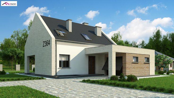 Z364 to wyjątkowy dom z kategorii projekty domów jednorodzinnych