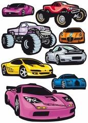 Sportbilar  http://www.barndekor.se/products/wallstickers-bilar-ws0194