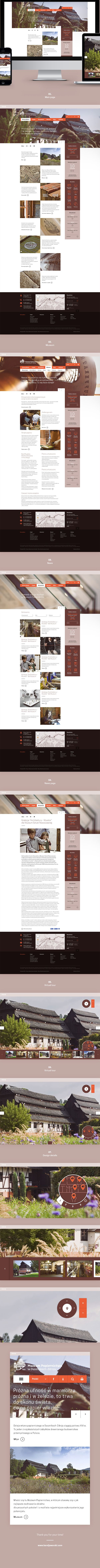 Web design for The Museum of Papermaking in Duszniki Zdrój, Poland.