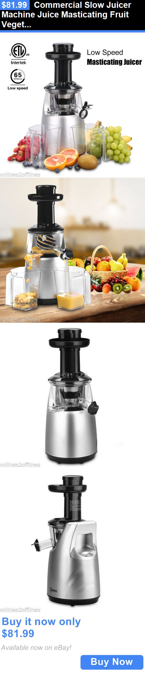 Small Kitchen Appliances: Commercial Slow Juicer Machine Juice Masticating Fruit Vegetable Extractor Maker BUY IT NOW ONLY: $81.99