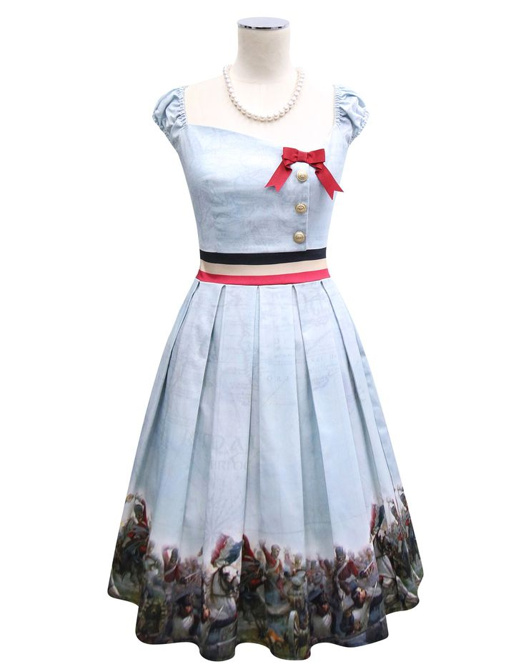 Kitten D'Amour - Waterloo 1815 Dress - blue, red, military, painting   Buy Recent Collections: http://www.kittendamour.com/brand_collections  Buy & Sell Old Collections: https://www.facebook.com/groups/1384135828515551/