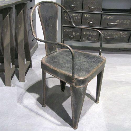 1000 id es propos de chaises en m tal sur pinterest chaises de salle m - Chaises industrielles metal ...