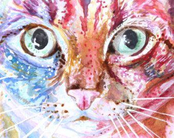 Aangepaste huisdier portret - huisdier portret met originele aquarel schilderij, originele aquarel, dierlijke kunst, dierlijke illustratie