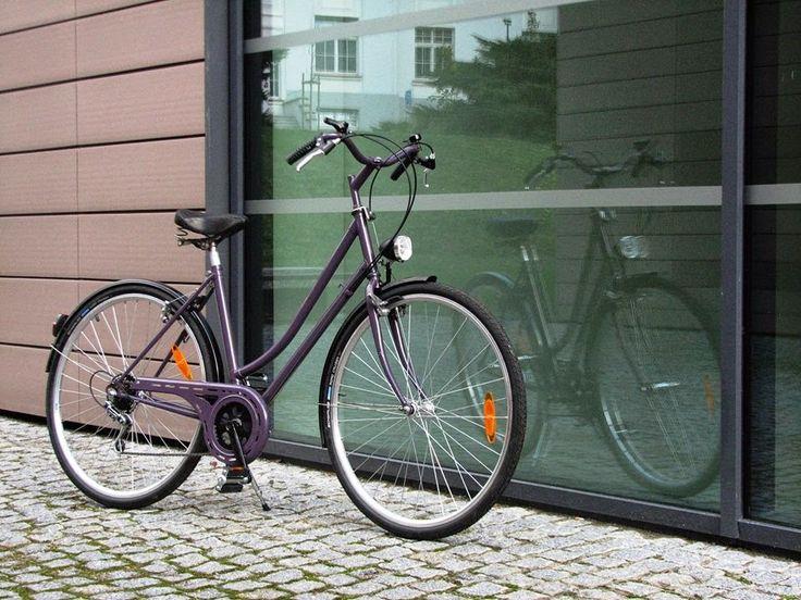 Kolem dokola okolo kol: Fialová v podzimní mlze    Violet bicycle