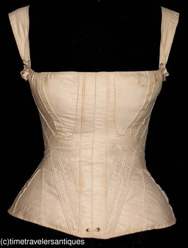 Rare c1830's Lady's Corded Stays / Corset
