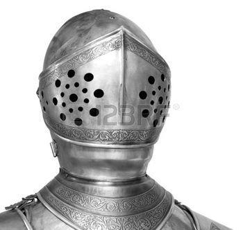 knight helmet: satisface el casco de Caballero de la armadura,  Foto de archivo