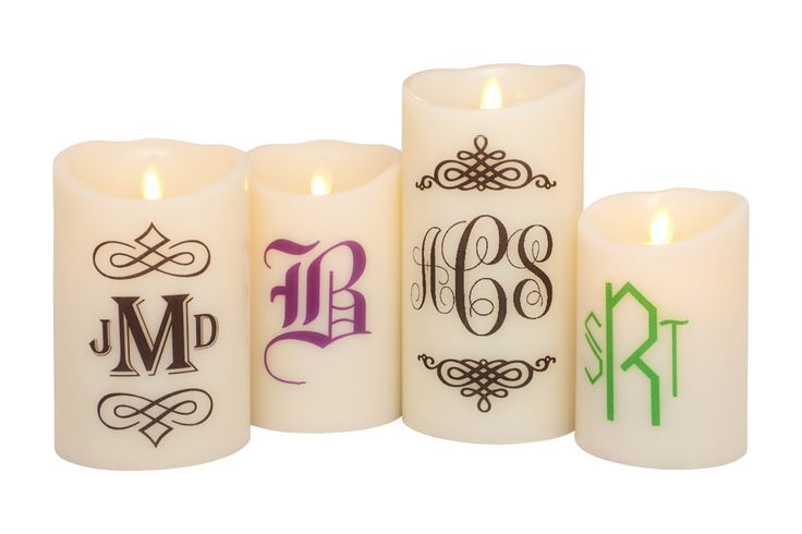 Monogrammed Candle - Personalized Wedding Gift - Flameless Candle with Remote - Wedding Gift - Personalized Gift - Flameless Pillar Candles by TheCustomCandlePlace on Etsy  $39.99+  In Stock