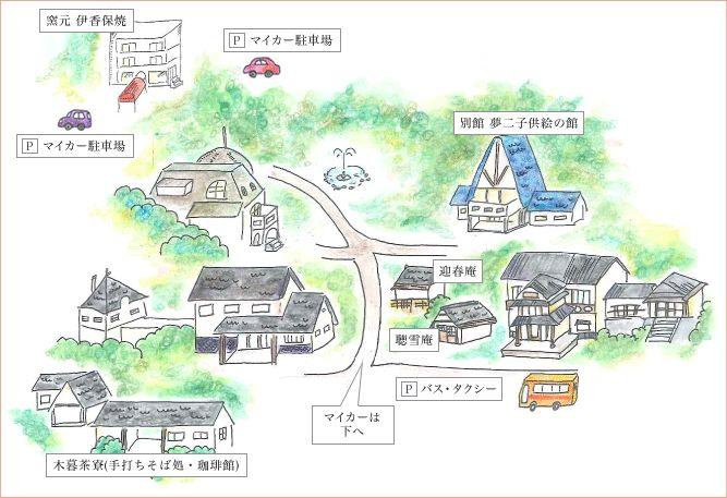 大正ロマンの森 エリアマップ