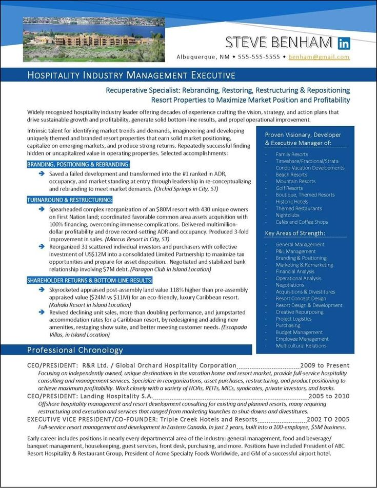 Awardwinning executive resume examples resume examples