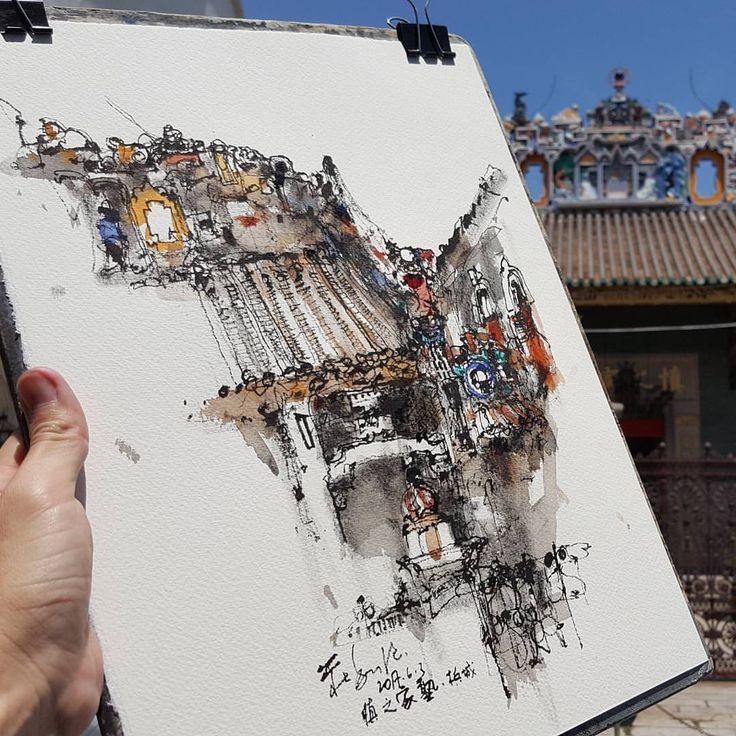 850 отметок «Нравится», 3 комментариев — Ch'ng Kiah Kiean (@kiahkiean) в Instagram: «Outdoor demo for The One Academy sketching workshop. #kiahkiean #theoneacademypenang»