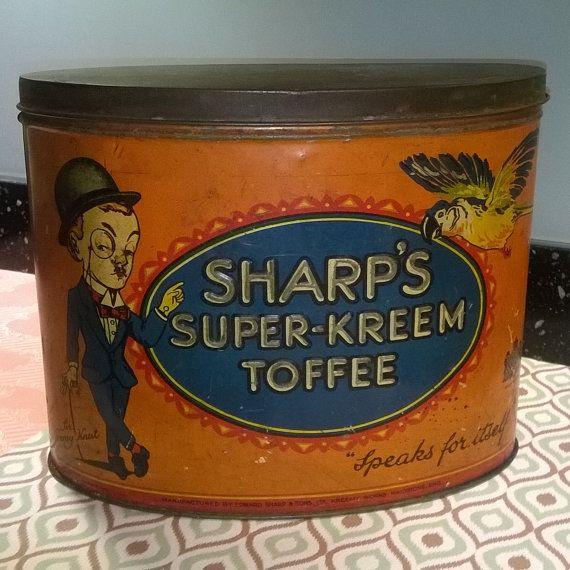 Splendid large vintage Sharp's Super-Kreem Toffee by Tinternet