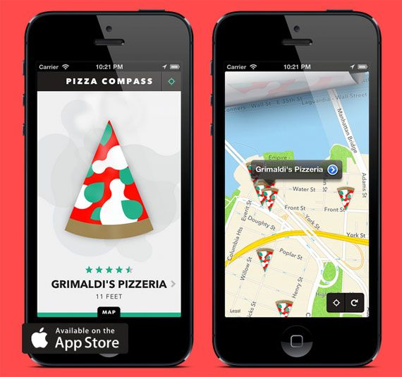 Pizza Compass Finds Nearest Pizza Joint #IncredibleThings