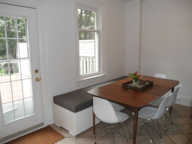 Loving Albany: Behold The Kitchen Banquette. Ikea Cabinet Hack