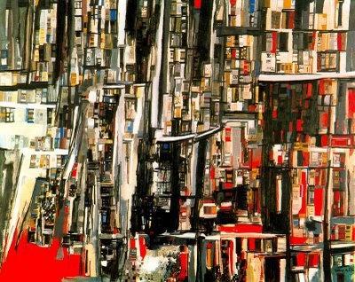 """""""La Bibliothèque"""" - Vieira da Silva - 1955"""