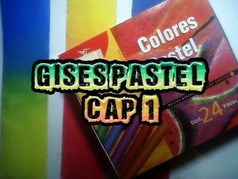 Técnicas de ilustración 9 GISES PASTEL cap. 1 Uso y mezclas - YouTube