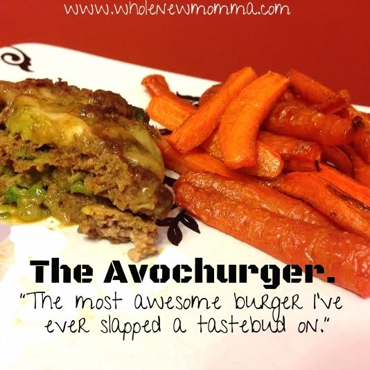 Oven baked burger with avocado | Main Dish Recipes | Pinterest