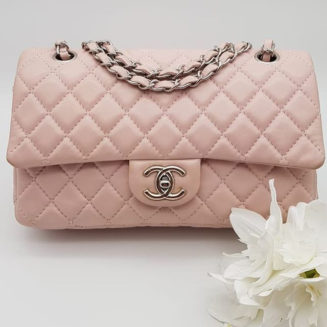 Fire Sale 2400 Wire Preloved Chanel Classic Flap Medium Baby Pink Lambskin Silver Hardware Serial Code Classic Flap Medium Chanel Classic Flap Chanel Classic